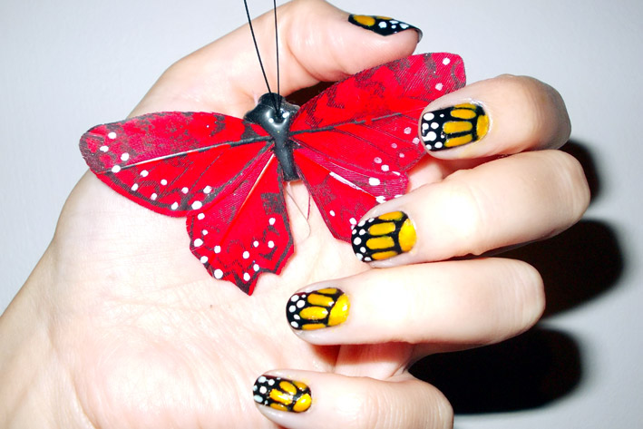 Butterfly Wings Nail Art - Animal Print