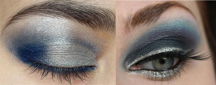 Gray Eye Shadow Blue Eyes Silver