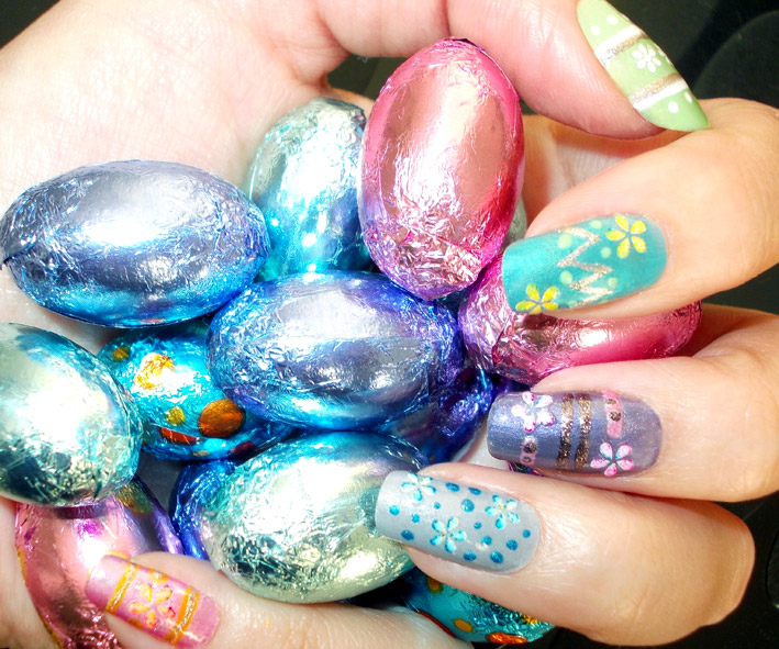 Easter Egg Nail Art feature