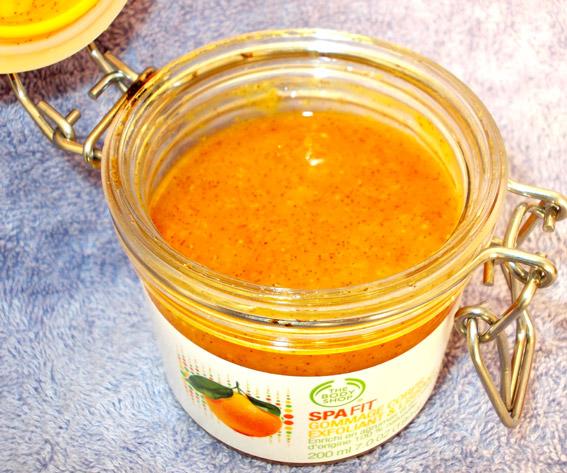 Body Shop Spa Scrub Product Review citrus
