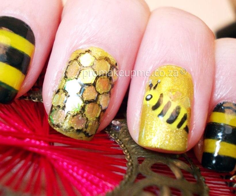 Honey Bee Nail Art