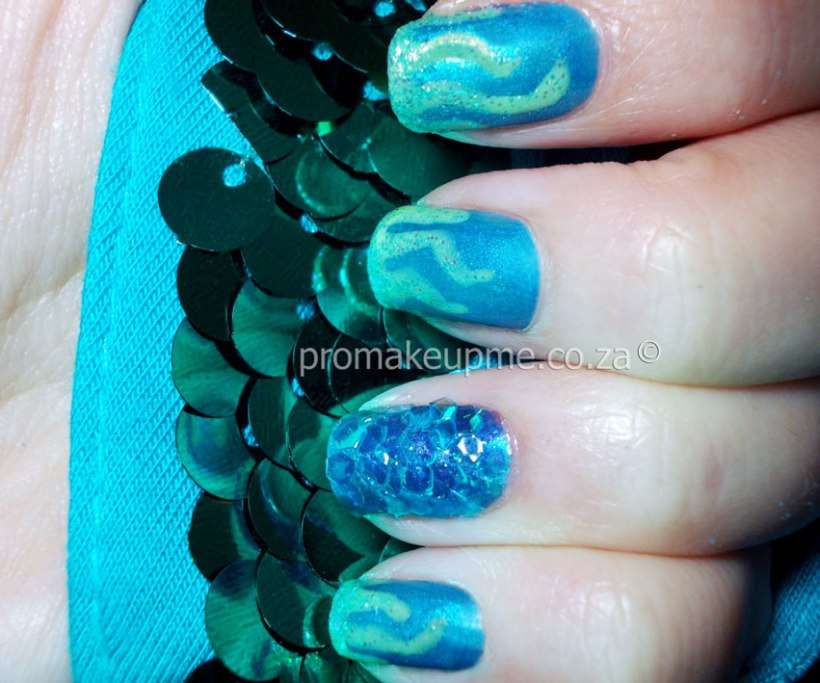 Mermaid Aqua Marine Nail Art