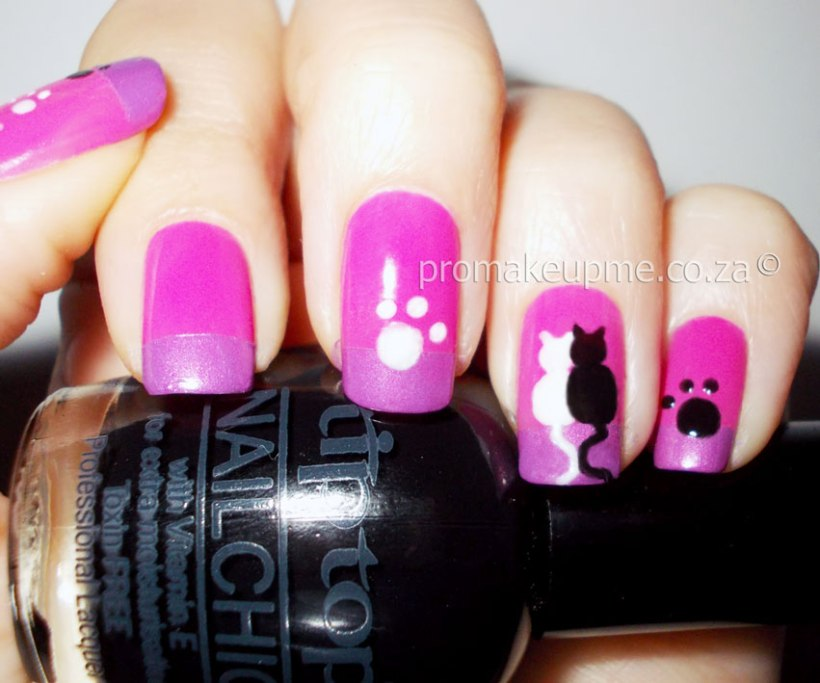 Kitty Cats Nail Art step four