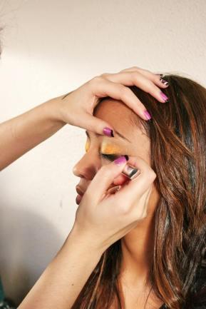 Pink Gold Belly Dancing Stage MakeUp eyeliner