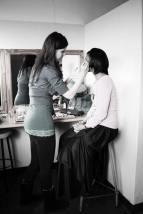 Applying Stage MakeUp