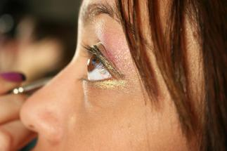 Pink Gold Belly Dancing Stage MakeUp