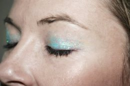 Blue Belly Dancing Stage MakeUp Glitter