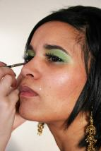 Green Belly Dancing Stage MakeUp