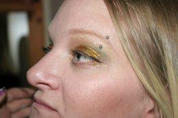 Gold Smokey Eye Belly Dancing Stage MakeUp