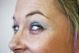 Blue Belly Dancing Stage MakeUp
