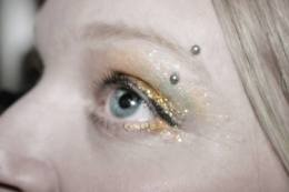Gold Belly Dancing Stage MakeUp