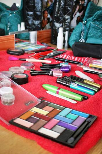 Bright Colourful Stage MakeUp products used