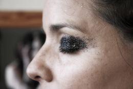 Black Smokey Eye Glitter MakeUp