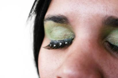 Green Belly Dancing Stage MakeUp Lashes