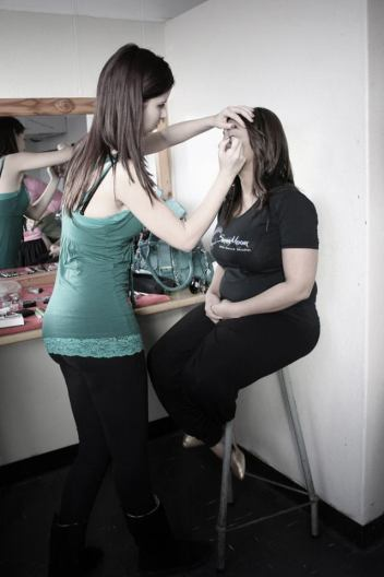 Applying Bright Stage MakeUp