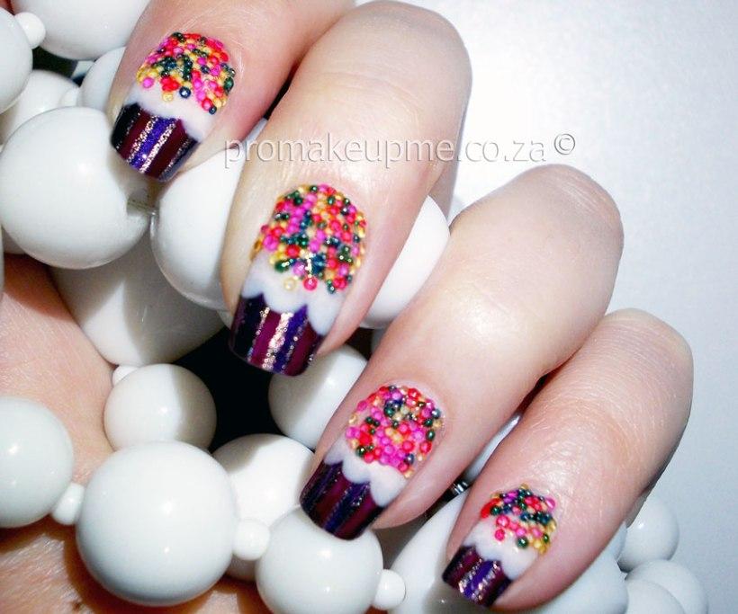 Cupcake Nail Art step