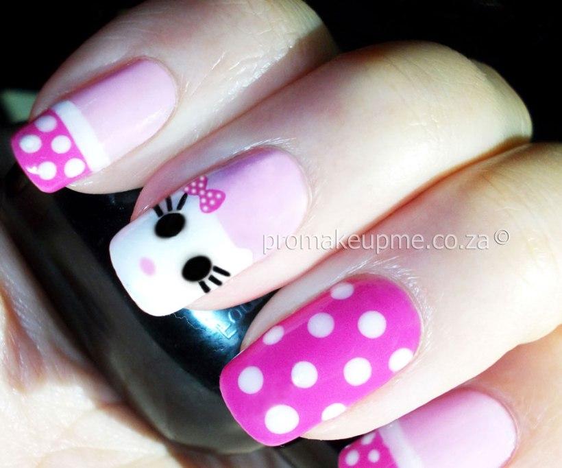 Hello Kitty Nail Art step four
