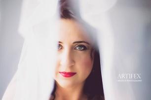 Anzel wedding Airbrush MakeUp veil