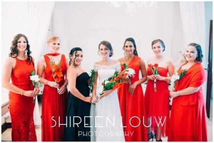 Adeline Wedding MakeUp Bridesmaids flowers