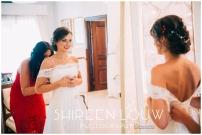 Adeline Wedding MakeUp mirror dress