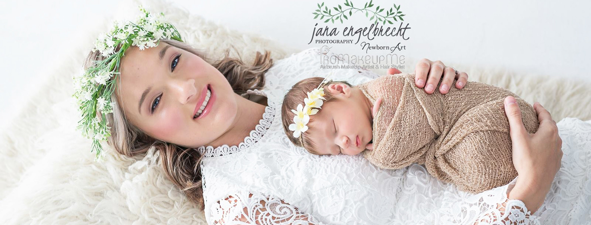 Brenda NewBorn Shoot Airbrush MakeUp Feature