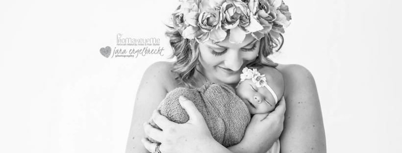 Madali Newborn Shoot Airbrush MakeUp Feature