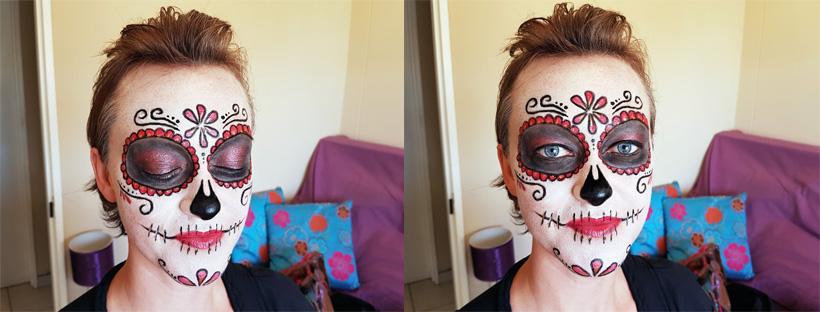 Sugar Skull Halloween MakeUp Feature